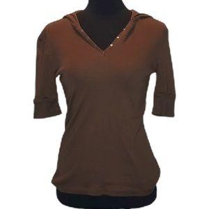 Brown Jones New York Sport Shirt Hooded Tee 269